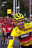 CADEL EVANS...best in the world..gotta wear a helmet